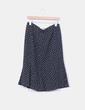Falda midi negra con lunares blancos NoName