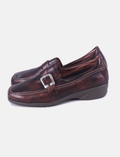 Zapato marrón cuña Pitillos