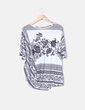 Blusa asimétrica con estampado cachemira Elena Miró