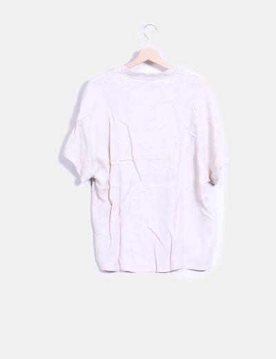Blusa tricot combinada beige