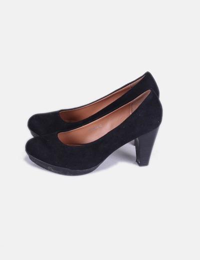 Zapatos antelina negros DosPies