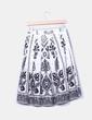 Falda midi tablas blanca y negra Zara