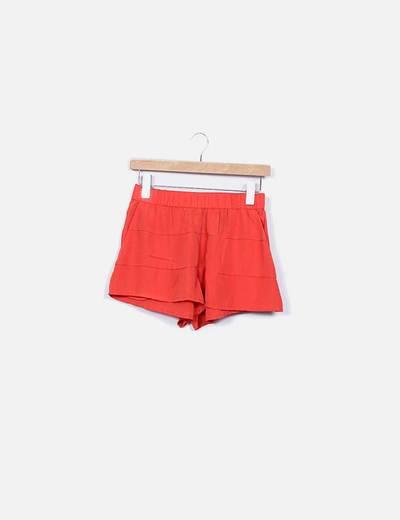 Shorts fluido naranja H&M