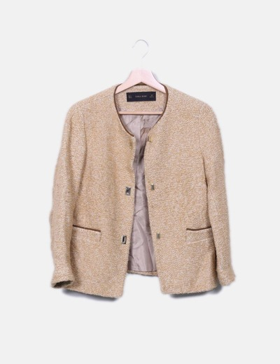 Color Tweed Xtfnwugqp 68 FEwvnqB Sconto In Zara Cammello Giacca Micolet  gwxC7fqF ef090678928