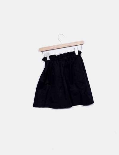 Stradivarius Falda negra con cintura de goma (descuento 81%) - Micolet a7615b6c0dcb