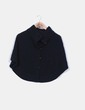 Poncho negro de punto detalle cuello alto Fórmula Joven