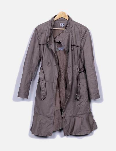 Trench couleur taupe Adolfo Dominguez
