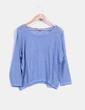 Jersey azul jaspeado Shana