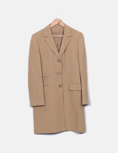 Abrigo largo beige Matiz