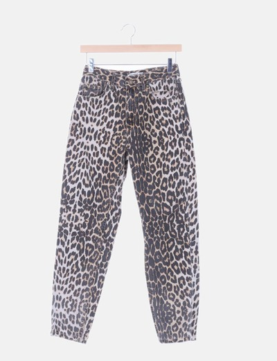 Pantalón denim animal print