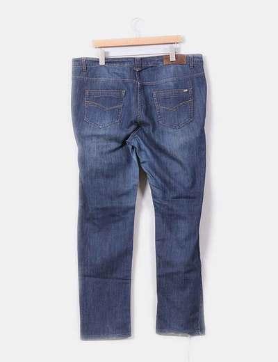 Jeans recto tono medio