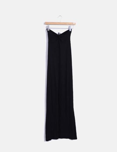 Maxi vestido negro palabra de honor Asos