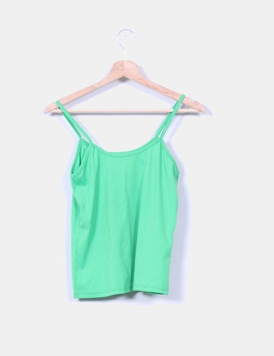 Camiseta verde de tirantes