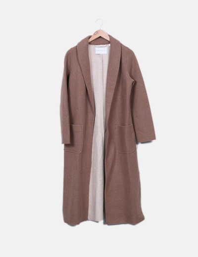 Abrigo largo marrón camel