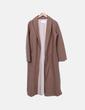 Abrigo largo marrón camel Babaton
