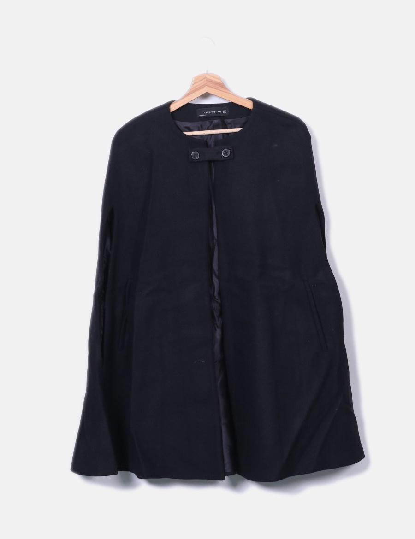 6a8d51e79a8 y Chaquetas online de baratos Capa paño Mujer Abrigos Zara negra xz1RnI ...