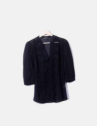 Camisa negra crochet