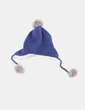 Gorro azul marino con pompones Six