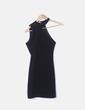 Vestido negro asimétrico Bershka