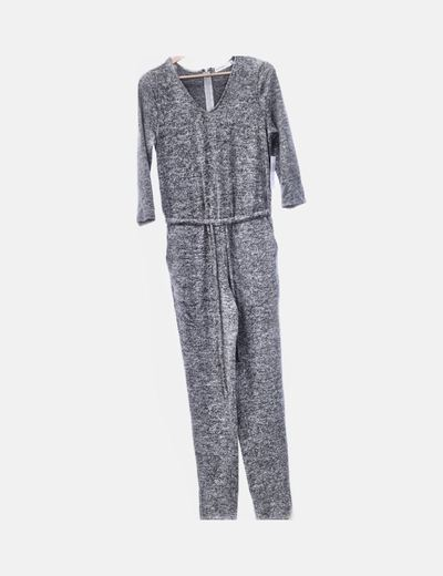Mono tricot gris jaspeado