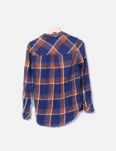 Camisa cuadros azul
