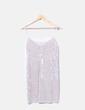 Vestido tirantes de terciopelo gris Zara
