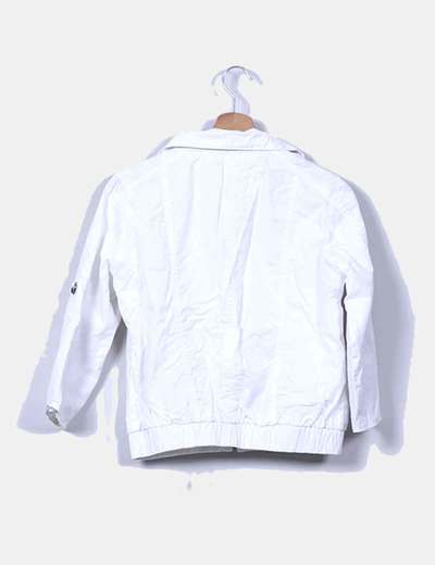 Chaqueta blanca manga francesa
