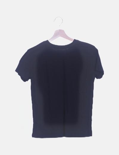 precio favorable volumen grande comprar más nuevo Camiseta negra de manga corta