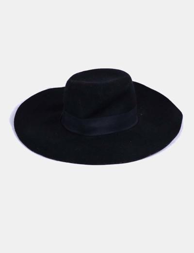 Sombrero ala ancha fieltro negro H&M