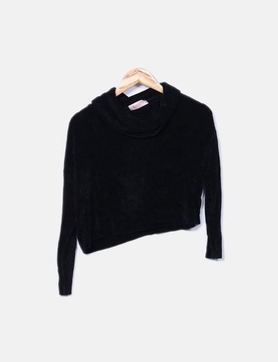 Jersey corp chenilla negro Kontatto