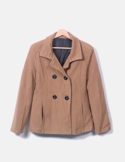 Abrigo doble botón marrón