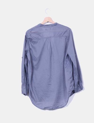 Blusa gris manga larga