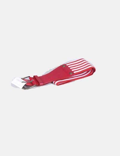Cinturón rojo y blanco NoName