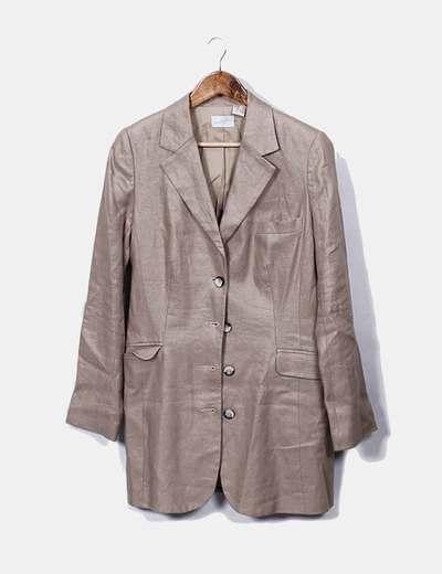 Manteau beige boutonné Laura Clement