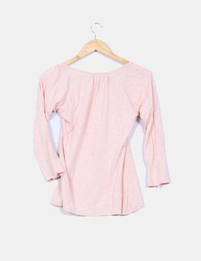 Camiseta rosa palo