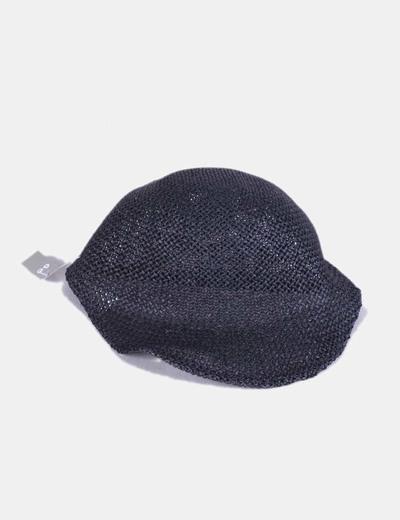 Gorra negra con visera de papel NoName