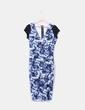 Maxi vestido estampado en tonos azules NoName