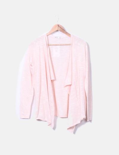 Cárdigan rosa palo