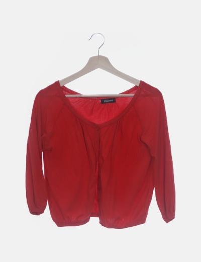 Cardigan tricot rojo con botones