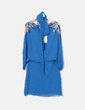 Vestido gasa azul petróleo con lentejuelas Sfera