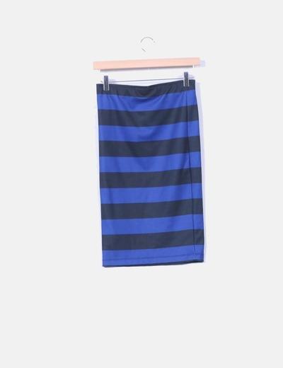 Falda lapiz elastica de rayas