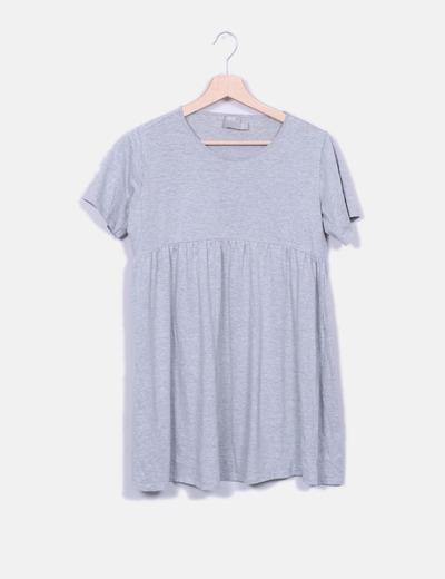 Camiseta fluida gris