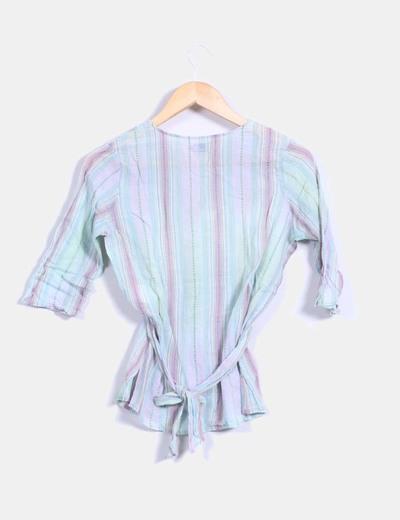 Blusa multicolor texturizada