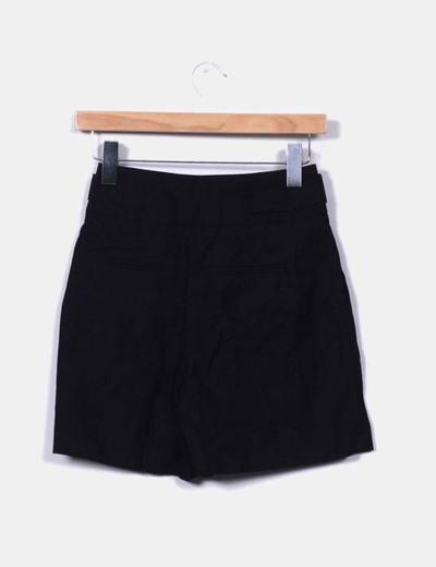 Pantalon lino negro