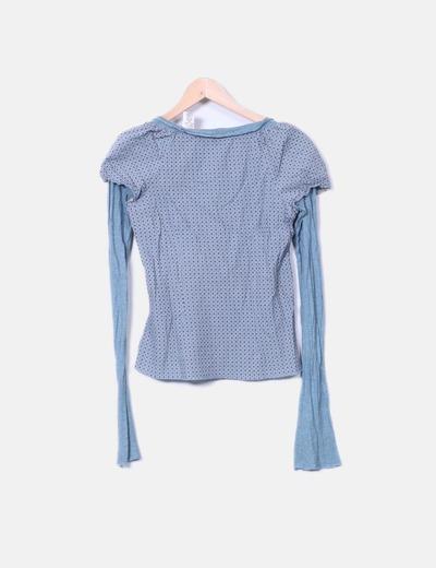 Camiseta doble textura