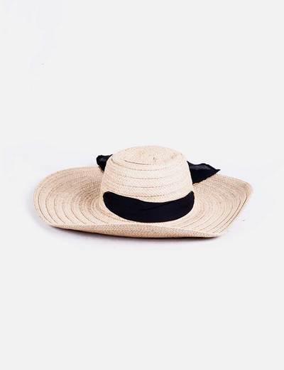 Sombrero rafia lazo NoName