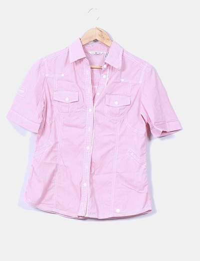 Camisa rosa de manga corta Punt Roma