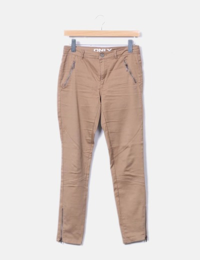 Pantalon marron ajusté ONLY