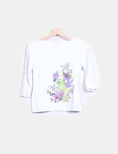 Top blanco print floral Lloyd's