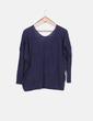Suéter tail hem azul marino Suiteblanco